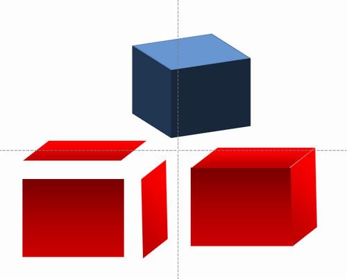 如何在PPT里做立方体